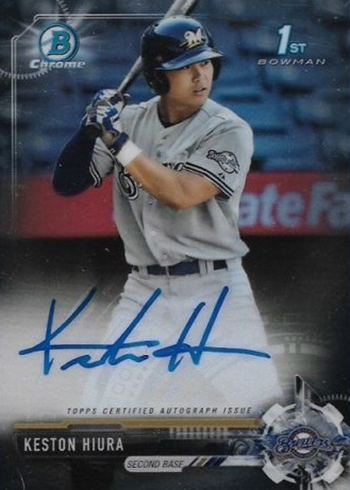 2017 Bowman Chrome Draft Keston Hiura Autograph