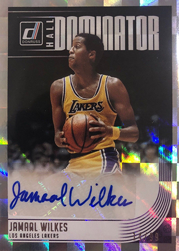 2018-19 Donruss Basketball Hall Dominators Signatures Jamaal Wilkes