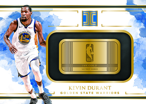 2018-19 Panini Impeccable Basketball Gold Logos Kevin Durant