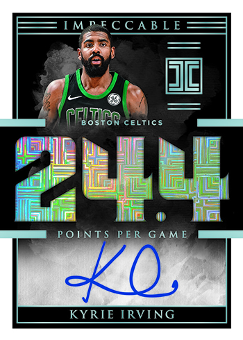 2018-19 Panini Impeccable Basketball Impeccable Points Autographs