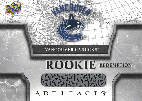 2018-19 Upper Deck Artifacts Hockey Vancouver Canucks Rookie Redemption