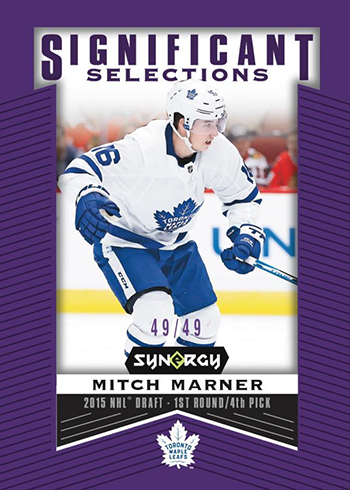 2018-19 Upper Deck Synergy Hockey Significant Selections