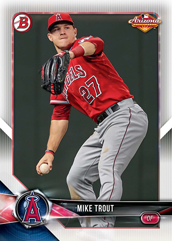 2018 Bowman AFL Fall-Stars Game Mike Trout