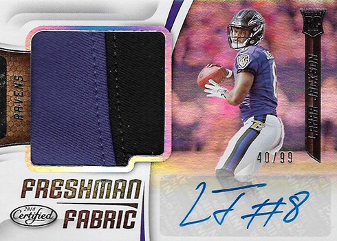 2018 Certified Lamar Jackson Freshman Fabric Autograph