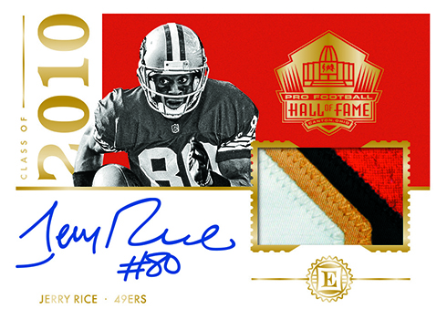 2018 Panini Encased Football Hall of Fame Patch Autograph