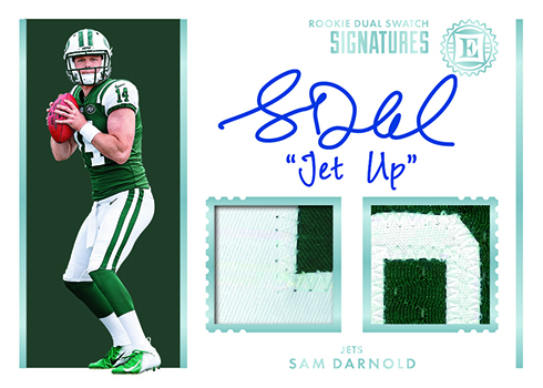 6e1eab200 2018 Panini Encased Football isn't just rookie autographs. Reserve  Signatures (/50 or less) has a mix of veteran and retired players, all with  on-card ink.