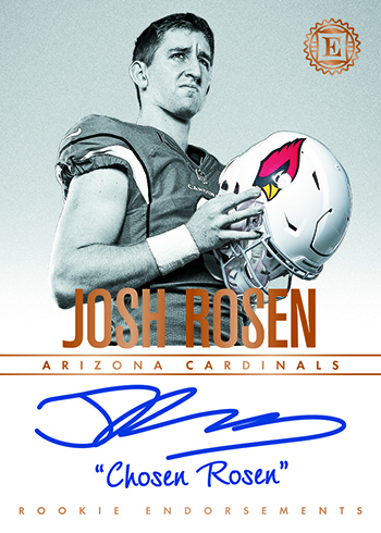 2018 Panini Encased Football Rookie Endorsements