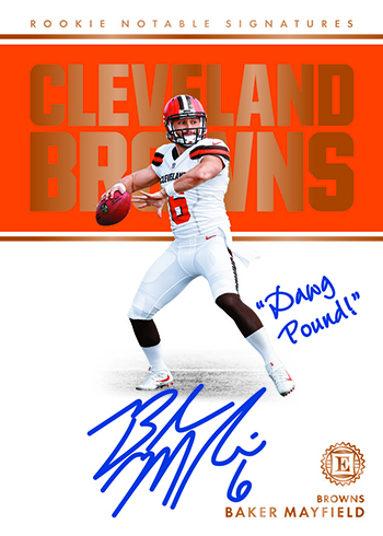2018 Panini Encased Football Rookie Notable Signatures