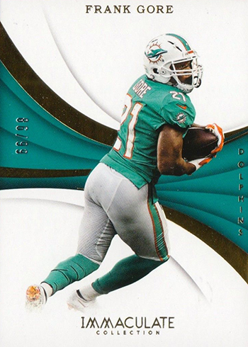 2018 Panini Immaculate Football Frank Gore
