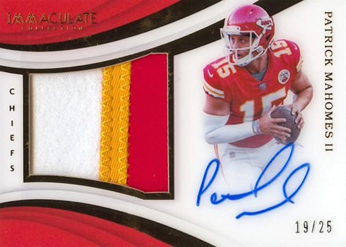 2018 Panini Immaculate Football Premium Patch Autographs Patrick Mahomes II