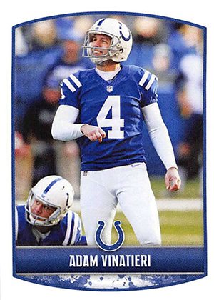 cd316b77c 2018 Panini NFL Stickers Adam Vinatieri