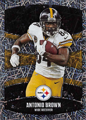 b9c17ca99 2018 Panini NFL Stickers Antonio Brown Foil