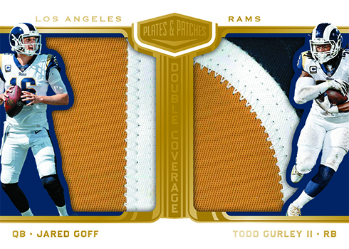 755dfa3d1 2018 Panini Plates and Patches Football Double Coverage