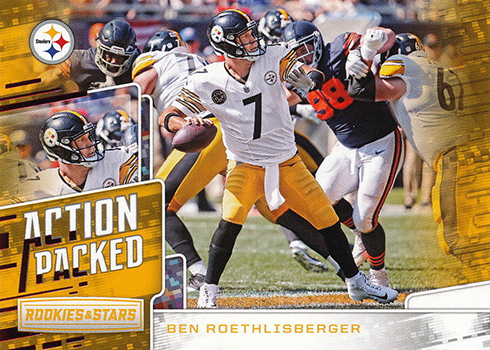 2018 Panini Rookies and Stars Football Action Packed Ben Roethlisberger