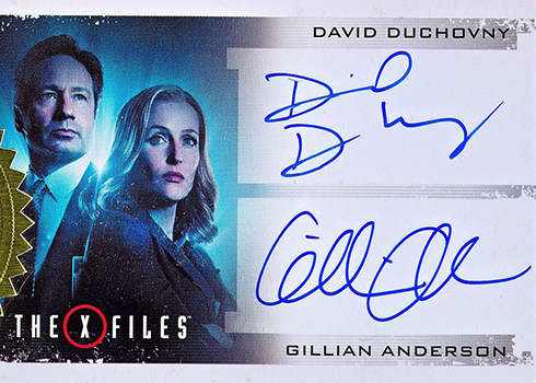 2018 Rittenhouse X-Files Seasons 10 and 11 Dual Autographs David Duchovny Gillian Anderson