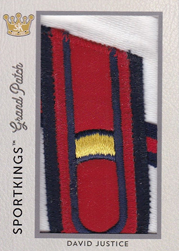 2018 Sportkings Volume 1 Grand Patch David Justice