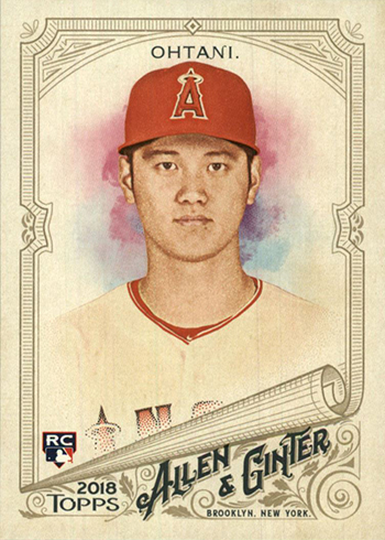 2018 Topps Allen and Ginter Shohei Ohtani RC