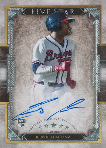2018 Topps Five Star Ronald Acuna Jr Rookie Card Autograph