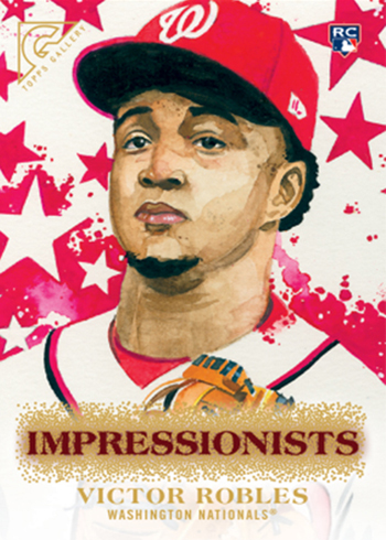 2018 Topps Gallery Baseball Impressionists Victor Robles