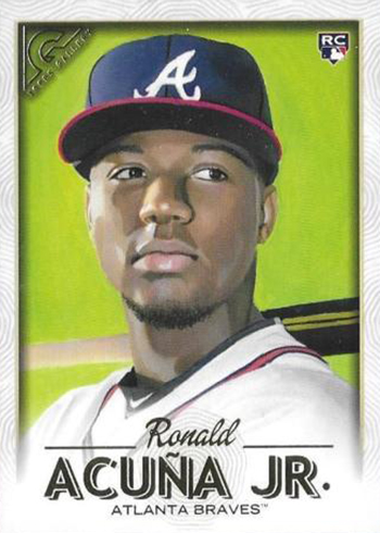 Image result for 2018 topps gallery ronald acuna jr