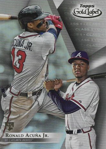 2018 Topps Gold Label Ronald Acuna RC