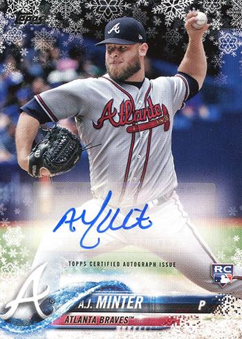 2018 Topps Holiday Snowflake Baseball Autograph AJ Minter