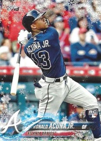 2018 Topps Holiday Snowflake Baseball Ronald Acuna Jr