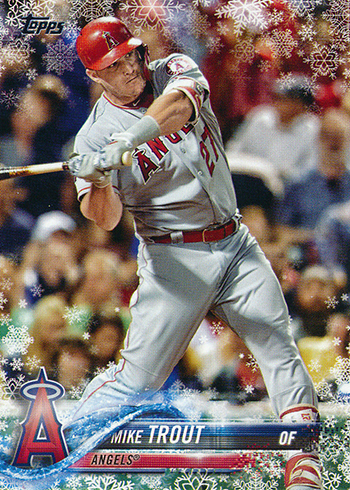 2018 Topps Holiday Snowflake Mike Trout