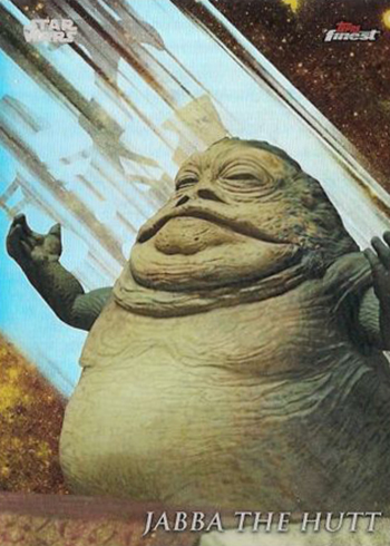 2018 Topps Star Wars Finest 114 Jabba the Hutt SP