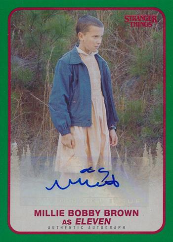 2018 Topps Stranger Things Autographs Green Millie Bobby Brown