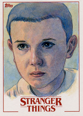 2018 Topps Stranger Things Sketch Card Dan Bergren