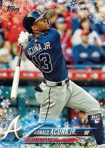2018 Topps Walmart Holiday Snowflake Ronald Acuna Jr