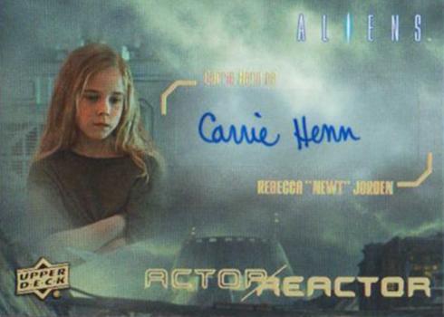 2018 Upper Deck Aliens Autographs Carrie Henn