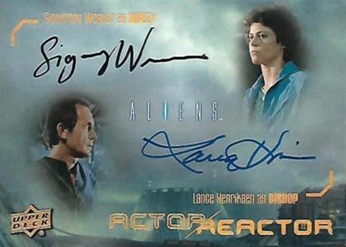 2018 Upper Deck Aliens Dual Autographs Sigourney Weaver Lance Henriksen