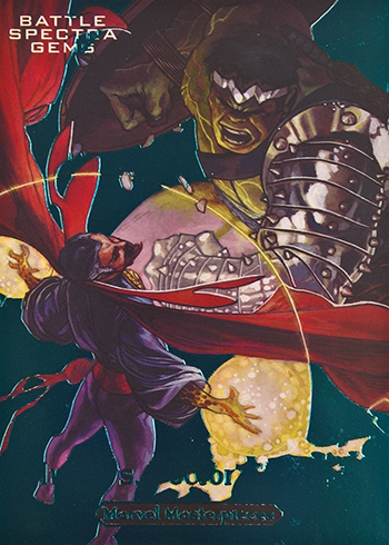 2018 Upper Deck Marvel Masterpieces Battle Spectra Gems