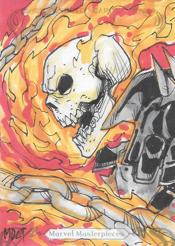 2018 Upper Deck Marvel Masterpieces Sketch Card Ghost Rider Marco Carrillo