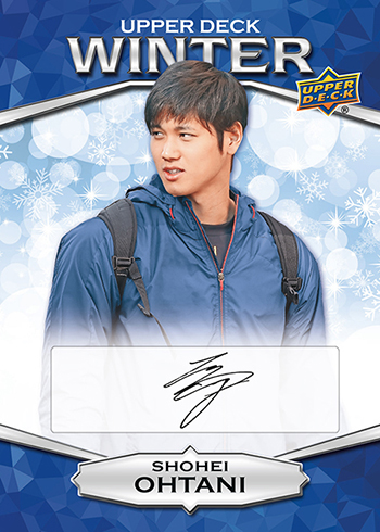 2018 Upper Deck Singles Day Winter Shohei Ohtani