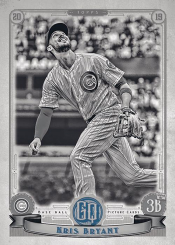 2019 Topps Gypsy Queen Baseball Base Black and White