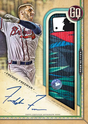 2019 Topps Gypsy Queen Baseball Pull-Up Sock Autograph Relic