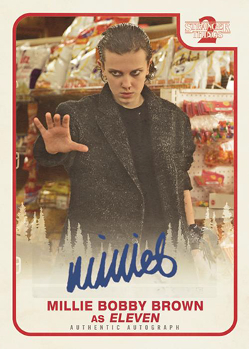 2019 Topps Stranger Things Series 2 Autograph Eleven Mock Up