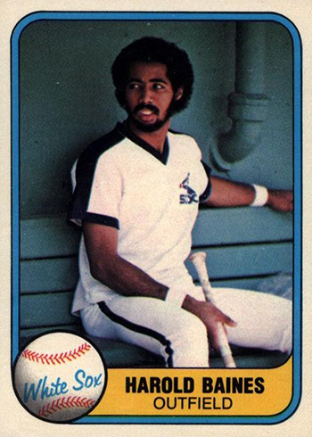 1981 Fleer Harold Baines RC