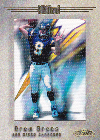 2001 Fleer Showcase Drew Brees RC