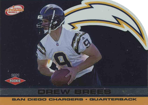 separation shoes 1ce35 5541d Most Valuable Drew Brees Rookie Card Rankings and Checklist