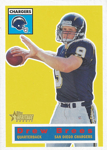 2001 Topps Heritage Drew Brees Rookie Card