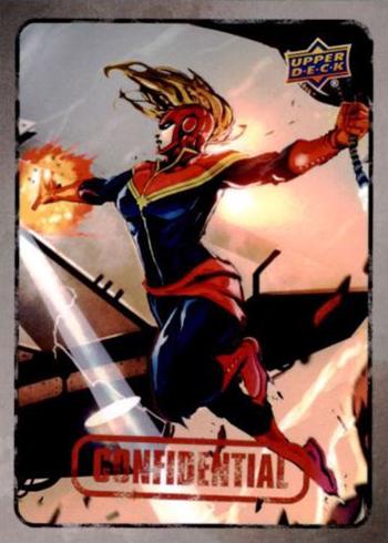 2015 Upper Deck Marvel Dossier Base Captain Marvel