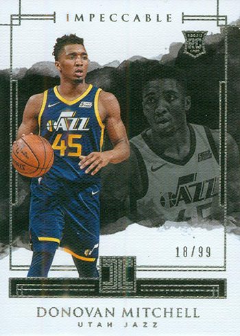 sports shoes 63ac6 2a9d6 Donovan Mitchell Rookie Card Guide and Checklist