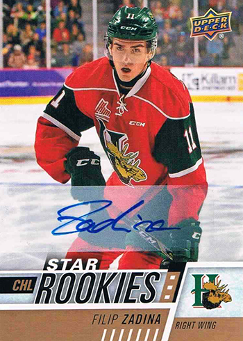 2017-18 Upper Deck CHL Autographs Filip Zadina
