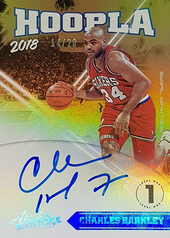 2018-19 Panini Absolute Basketball Hoopla Signatures Charles Barkley