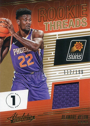 2018-19 Panini Absolute Basketball Rookie Threads Deandre Ayton