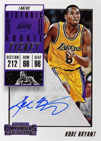 aea46385ada 2018-19 Panini Contenders Basketball Autographs Checklists. Historic Rookie  Ticket Autographs Checklist